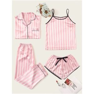 IN STOCK CAndy Stripes Blush Pajamas Set